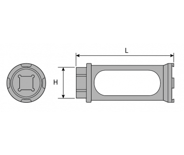 EZR20-TQN:   EZR 20 Torque Nut (extended wrench adaptor)