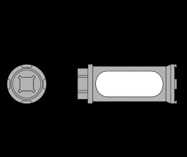 EZR25-TQN:   EZR 25 Torque Nut (entended wrench adaptor)