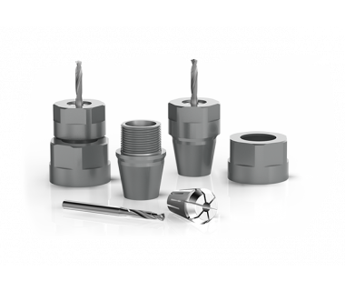CQS-AS16-1103:  ER16-ER11 Quick Change Assembly w/ M19x1 nut