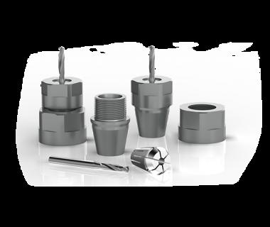 CQS-AS11-0804:        ER11-ER8 Quick Change assy w/ M14x.75 nut, no spring collets