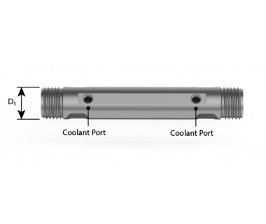 CQS-S16-1000-CDE:  ER 16 Double Ended Collet Sleeve, 1.00'' Shank x 4.5'' OAL, w/ Flat,