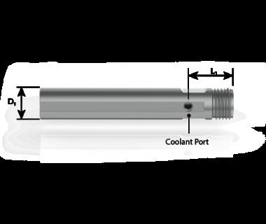 CQS-S16-0866-CSE:  ER16 Collet Sleeve 22mm Shank x 118mm OAL, w/ Flat,