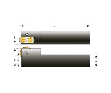 KHB-1GKR-625:  Bump Knurl Holder, GK Style Single Roll, 5/8 Square Shank