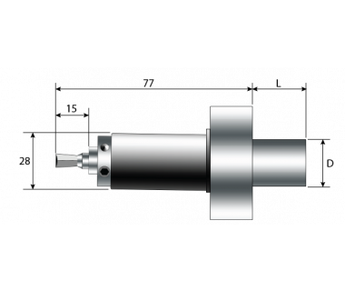 RBH-2160-160-038-MBG-T16: Swiss Rotary Broach Holder, Ø8mm Tool Bore, with Flange Mount For Star