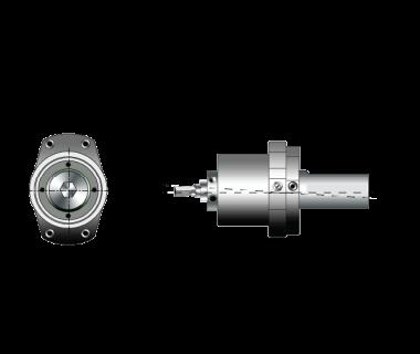 RBH-6191-500:          Adj Rotary Broach Holder, Ø12mm Tool Bore, Shank Ø50mm x 68L with Flat
