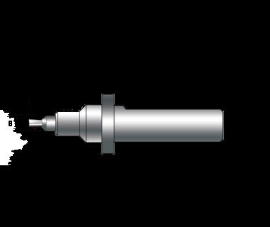 """SBH-254250-125-8M: Static Broach Holder, Shank Ø 1.00""""x 2.5"""", Head Ø1.1"""",x 1.25"""", 8mm Broach"""