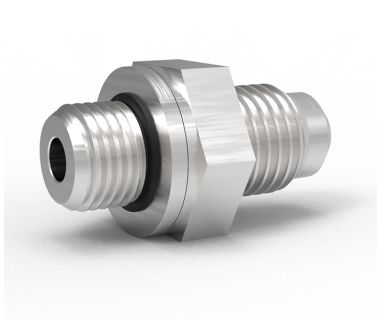 FIT-MICRO-4x2-00: 0°  Male Union 1/4 JIC to x 1/8 BSPP (For MicroBore & MBK CoolFlex, ISO Holders)