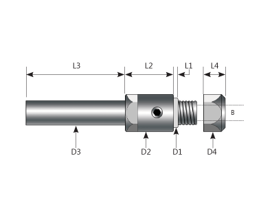 "SAC-N312-312125:         Arbor, Combo SP, Ø.312""x1/8 Hub, Ø.1250"" Bore, Ø5/16 Shk, Ø3/8 Flg, 2.5 OAL"