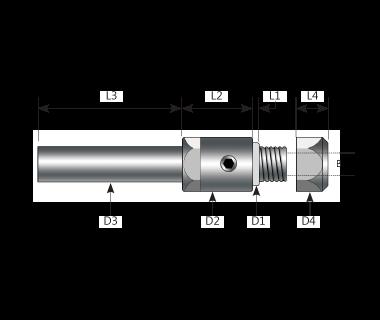 """SAC-N315-315125:                Arbor, Combo SP    Ø8.0 x 3mm Hub,  Ø.1250"""" TL Bore, Ø8mm Shk, Ø9.5"""