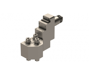 CIT-GSE3207: Live z-axis spindle for L20E Citizen Machines w/ 3 front, 3 back ER11 Tool spindles