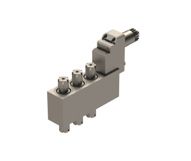 CIT-BSE-3210:    Z-Axis 3-Pos Dbl Ended Live Tool ER16, I/O 1:1, Geared, Rev.Req