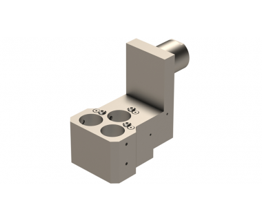 STA-E20C-901-AR:  Triple ID tool Holder, adj. external coolant, holds (3x) 32mm collet