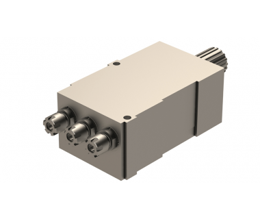 TOR-DE13-0010: Triple Axial Toolholder ER11, w/3mm & 10mm Plates. Tornos Deco 13