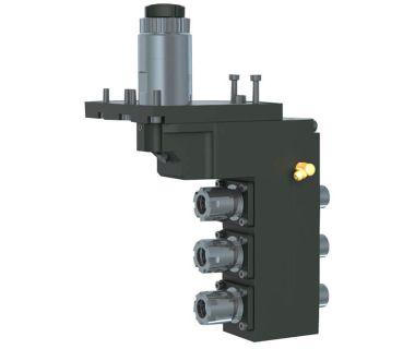 STA-5540-000133 3-spindle double drilling/milling unit ER16/ER11, Angle adj. 0~90°