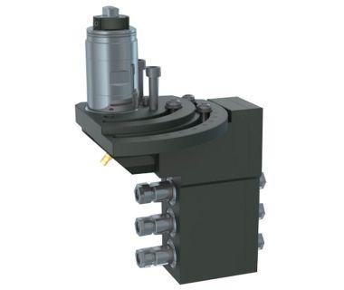 TSU-5540-000219 3-spindle double drilling/milling unit ER11/ER11, Angle adj. 0~90°