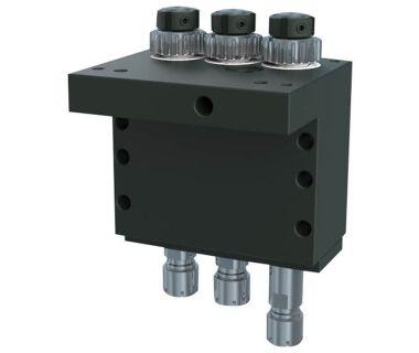 NOM-5540-000407 Cross drilling/milling unit, 3-spindle ER11