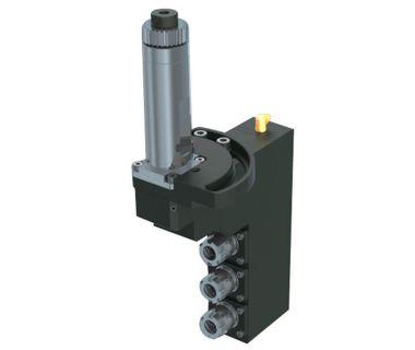 HAN-3XE16-ADJ0-90 3-spindle drilling/milling unit ER16, Angle adj. 0~90°