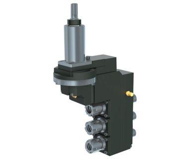 HAN-5540-000442 3-spindle double drilling/milling unit ER16/ER11, Angle adj. ±90°