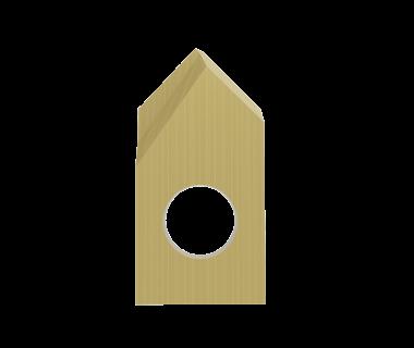 SDI-2120-PRF-TIN: #2 Insert Spot Drill 120°, Pos. Grind, RH, .005 Point Flat,  Carbide w/Tin Coat