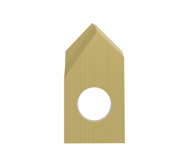 SDI-3060-PRF-TIN: #3 Insert Spot Drill 60°, Pos. Grind, RH, .005 Point Flat,  Carbide w/ Tin Coat
